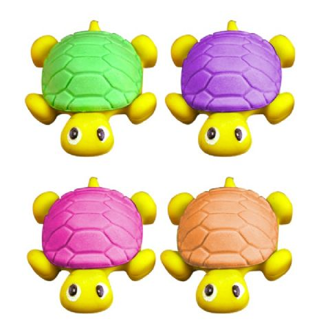 Turtle - Novelty 3D Erasers Rubbers PINK PURPLE GREEN or ORANGE (1)